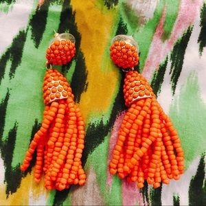BaubleBar beaded tassel statement earrings